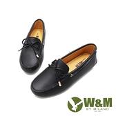 W&M(女)內增高蝴蝶結飾莫卡辛鞋 女鞋-黑(另有卡其)