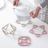 可折疊防燙餐墊家用塑料盤子墊子創意防滑隔熱墊鍋墊餐桌墊 東京衣櫃
