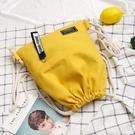 束口袋抽繩後背包男女小學生書包輕便運動簡易背包布袋補習補課包 韓國時尚週