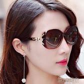 太陽眼鏡 新款女士太陽鏡女偏光司機駕駛鏡大框墨鏡復古圓臉太陽眼鏡潮  城市玩家