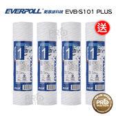 買三送一 水達人~愛惠浦科技EVERPOLL 公司貨 高容雜量濾芯/高容雜質濾芯(EVB-S101 PLUS)