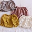 女童短褲 拼接花邊短褲女寶寶嬰兒女童外穿薄款夏小童面包褲6-12個月1-2歲-Ballet朵朵