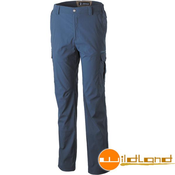 Wildland 荒野 0A31326-49深灰藍 男彈性口袋透氣抗UV長褲