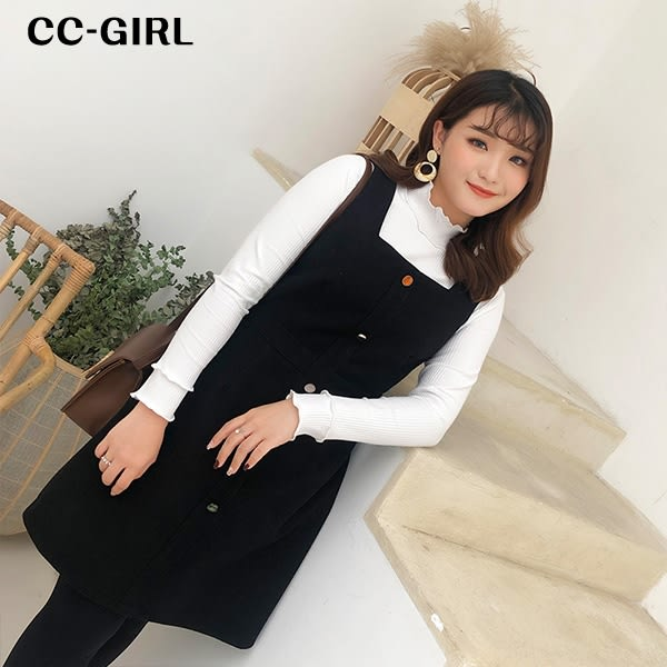 中大尺碼 小高領百搭打底上衣~共三色 - 適XL~5L《 67120L 》CC-GIRL