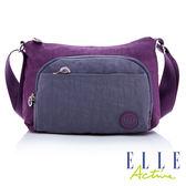 Backbager 背包族 【ELLE Active】城市微旅行-側背包/斜背包/隨身包(小)-紫色