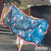 絲巾 披肩女百搭海邊沙灘巾絲巾外搭防曬韓版民族風超大圍巾紗巾   傑克型男館