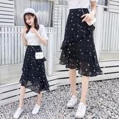 155紗裙半身裙春裝搭配145cm150cm矮個子嬌小森系小清新仙女裙夏 露露日記
