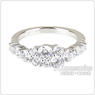 apm MONACO LES CASCADES系列晶鑽鑲飾閃耀純銀指骨戒(銀)