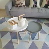 小圓桌 小茶幾組合北歐小圓桌迷你沙發邊幾簡約小戶型臥室床頭桌【免運】