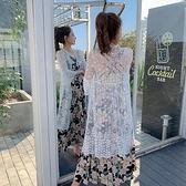薄外套 空調衫 超火的蕾絲防曬衣服女中長款超薄寬松時尚開衫外套N105.2017胖胖唯依