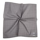 renoma經典格紋男士純綿帕巾(灰色)989063-250
