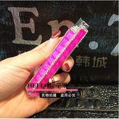 鑲鑽水晶寶石充氣打火機女士口紅小巧便捷式水鑽打火機纖細款(西瓜紅)