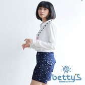 betty's貝蒂思 星星圖案復古短褲(牛仔藍)