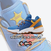 adidas 籃球鞋 D.O.N. Issue 2 J 藍 黃 女鞋 大童鞋 玩具總動員 胡迪 聯名款 運動鞋【ACS】 FX1595