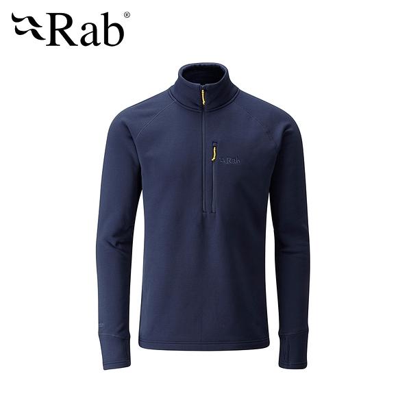英國 RAB Power Stretch Pro Pull-On 保暖排汗衣 男款 深墨藍 #QFE62