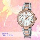 CASIO 手錶專賣店 CASIO_ SHE-3043SPG-7B_時尚三眼女錶_全新