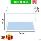 玻璃烏龜缸帶曬臺水陸缸生態水陸缸養烏龜缸巴西龜缸別墅大型大號 瑪麗蘇DF