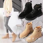 2018秋冬季新款馬丁靴英倫風加絨平底女鞋瘦瘦靴短筒靴子網紅短靴