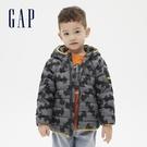 Gap男幼童 Gap x DC正義聯盟系列英雄主題羽絨外套 593094-灰色印花