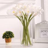 仿真花束假花絹花塑料pu馬蹄蓮客廳居家餐桌裝飾插花  ys1060『寶貝兒童裝』