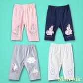 Mini Jule 女童 短褲 兔子雲朵房子/圓圈蕾絲亮片/蝴蝶結小兔子五分內搭褲(共4款) Azio Kids
