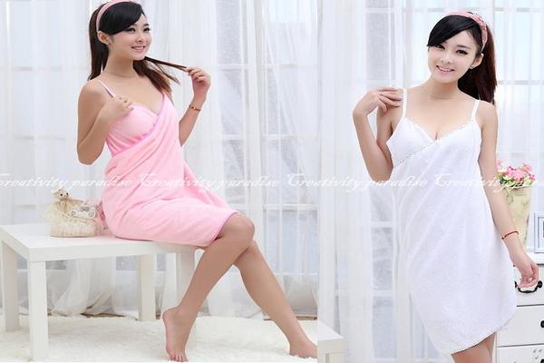 【仿真絲款沙灘圍裙】可穿式魔術海灘圍巾吊帶式浴巾連身浴裙睡衣一片裙