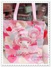♥小花花日本精品♥Hello Kitty 美樂蒂Melody提袋帆布提袋40周年紀念款站姿捧臉日本限定 42104605