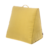 HOLA 新素色織紋三角大靠墊57x50x30cm芥黃色