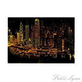 8k刮畫紙城市夜景成人diy手工創意單色刮刮畫豪華版套裝生日禮物 HM 范思蓮恩