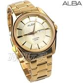 ALBA雅柏錶 經典城市風格 簡約都會 日期星期 藍寶石水晶玻璃 金色電鍍 男錶 AJ6094X1 VJ33-X030Y
