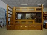 【石川傢居】YC-01 超強新版 奧斯卡收納松木安全雙層床 _附置物櫃、樓梯安全收納櫃