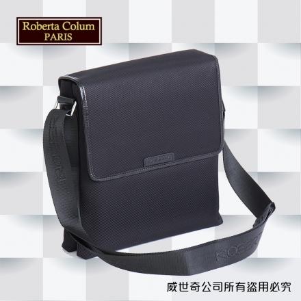 【Roberta Colum】諾貝達 百貨專櫃 男仕背包 側背包 公事包 男包(8606黑色)【威奇包仔通】