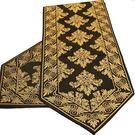 【巴芙洛】歐風精緻桌旗-32cm*180cm-黑色