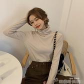 高領打底衫 加厚內搭高領打底衫女秋冬上衣2021新款冬季加絨保暖衣堆堆領女裝 韓國時尚週