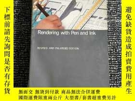 二手書博民逛書店Rendering罕見with Pen and Ink(建築設計