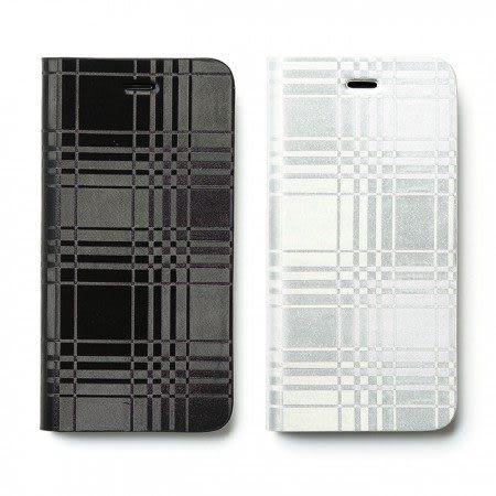 【00547】 [Apple iPhone 6 / 6S (4.7)] ZENUS AVOC Mono Check Diary 金屬格紋皮套