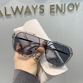 網紅連身方框太陽鏡男女潮流街拍大臉顯瘦墨鏡韓版開車防紫外眼鏡 初色家居館