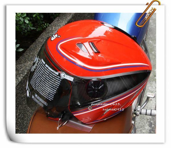 林森●GP-5安全帽,3/4安全帽,半罩式,飛行帽,232,卡夢彩繪,紅