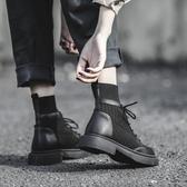 襪靴帥氣馬丁靴女英倫風2020秋冬新款百搭系帶襪靴網紅短靴子女加絨
