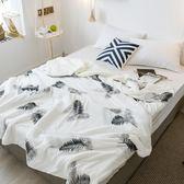 極柔牛奶絨羊羔絨雙層保暖毯-棕櫚 BUNNY LIFE