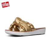 限定優惠價!【FitFlop】BRAID METALLIC LEATHER TOE-THONGS編織扭結設計夾腳涼鞋(黃金色)