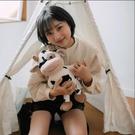 儿童玩具 可愛萌小奶牛公仔毛絨玩具卡通生肖玩偶布娃娃抱枕牛年吉祥物【快速出貨八折下殺】