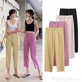 寬褲女夏薄款七分垂感直筒褲小個子八分褲高腰西裝褲寬鬆休閒褲