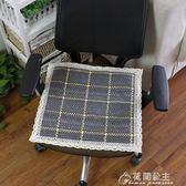棉線編織椅子墊子 四季餐椅坐墊夏季辦公室座椅墊亞麻布藝花間公主