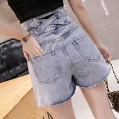 牛仔短褲 夏季新款網紅超高腰薄款顯瘦休閒超短褲子牛仔褲夏裝女士潮 - 巴黎衣櫃