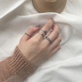 s925純銀戒指女十字架復古做舊泰銀開口百搭歐美個性情侶指環