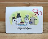 ㄇㄚˊ幾生日卡(一點小心意) 26106 麻幾兔 麻吉兔 ㄇㄚˊ幾兔 【金玉堂文具】
