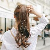 馬尾假髪女辮子綁帶式隱形自然大波浪長卷髪氣質假馬尾假髪女抓夾 【PINK Q】