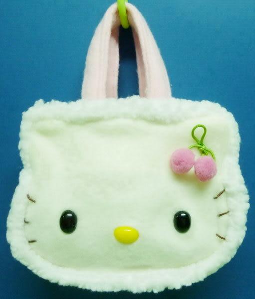 【震撼精品百貨】Hello Kitty 凱蒂貓~毛毛造型手提袋『粉櫻桃』