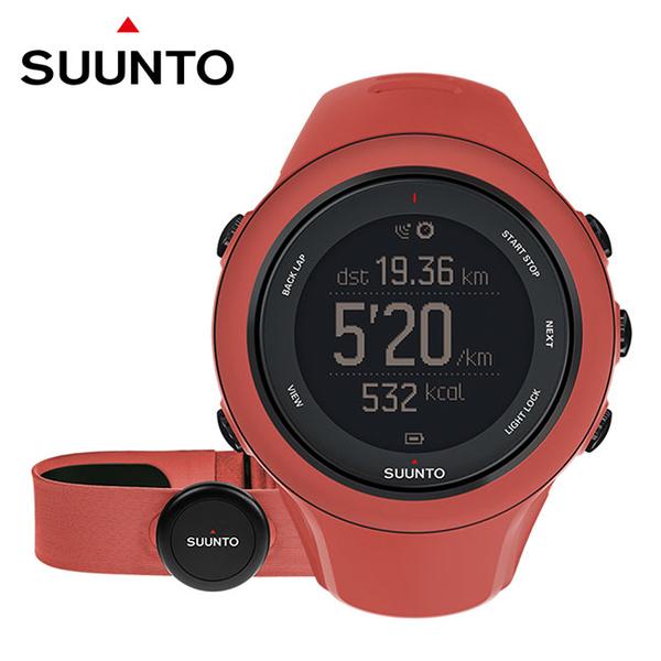 SUUNTO Ambit3 Sport HR GPS錶-珊瑚紅 女錶【屈臣氏】